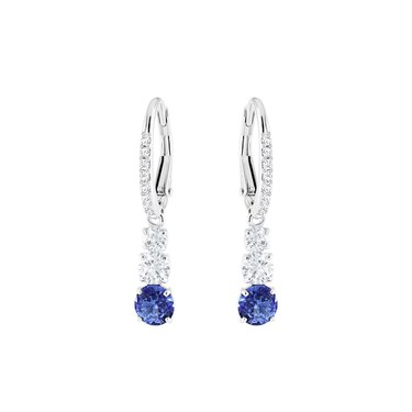Swarovski Attract Trilogy Blue Drop Earrings  - Click to view larger image