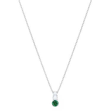 Swarovski Attract Trilogy Green Necklace  - Click to view larger image