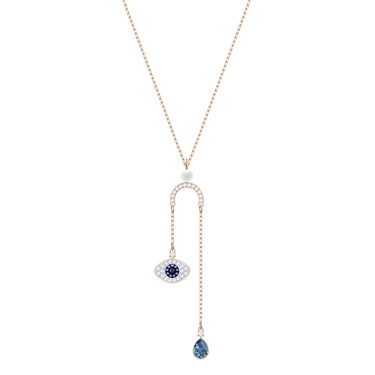 Swarovski Duo Evil Eye Y Necklace  - Click to view larger image