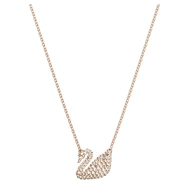 Swarovski Iconic Swan Rose Gold Necklace  - Click to view larger image