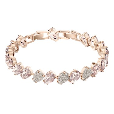 Swarovski Mix Pear Rose Gold Bracelet  - Click to view larger image
