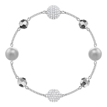 Swarovski Remix Collection Silver Strand Bracelet  - Click to view larger image