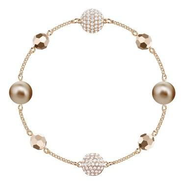 Swarovski Remix Collection Rose Gold Strand Bracelet  - Click to view larger image