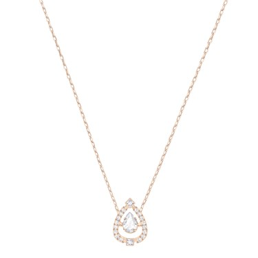 Swarovski Sparkling Dance Rose Gold Pear Necklace  - Click to view larger image