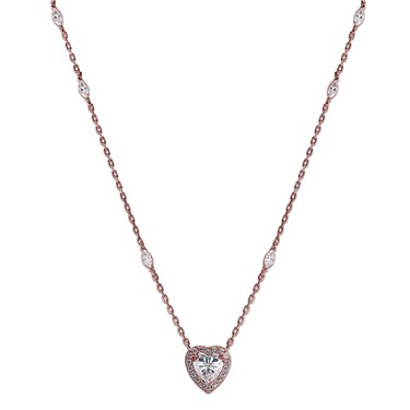 Carat* London Cora Rose Heart Necklace  - Click to view larger image
