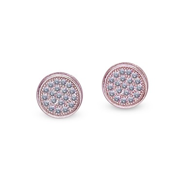 Carat* London Gala Rose Pave Stud Earrings  - Click to view larger image