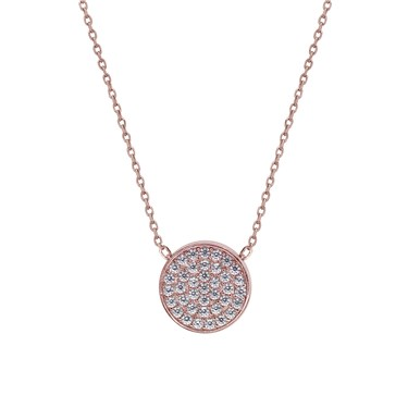 Carat* London Gala Rose Round Pendant Necklace  - Click to view larger image