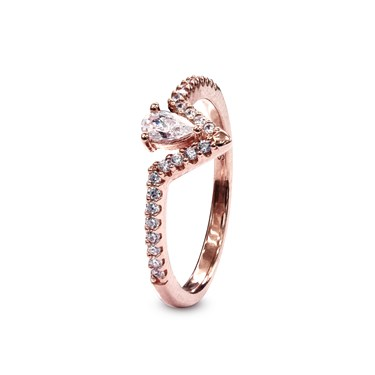 Carat* London Victoria Rose Ring Size M  - Click to view larger image