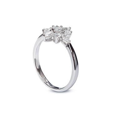 Carat* London Snowflower Camelia Ring Size M  - Click to view larger image