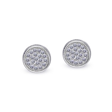 Carat* London Gala White Pave Stud Earrings  - Click to view larger image