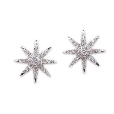 Carat* London Vega White Stud Earrings  - Click to view larger image