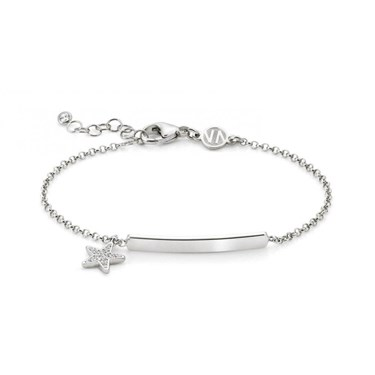 Nomination Gioie Silver Star Plate Bracelet                                                                                                                  - Click to view larger image