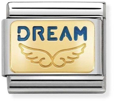 Nomination Gold Angel Dream Charm  - Click to view larger image