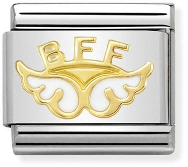 Nomination Gold Angel of Friendship Charm  - Click to view larger image