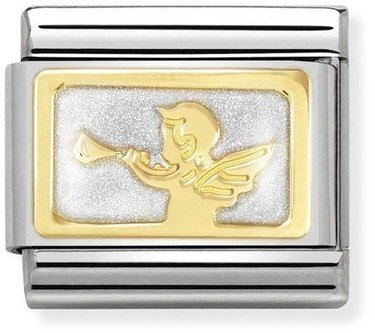 Nomination Gold Good News Messenger Angel Charm  - Click to view larger image