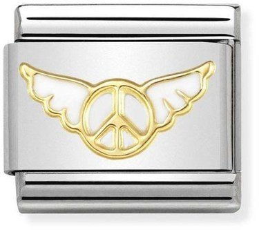 Nomination Gold Angel of Inner Peace Charm  - Click to view larger image