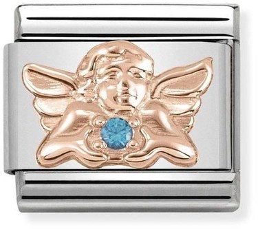 Nomination Rose Gold Angel of Children Charm  - Click to view larger image