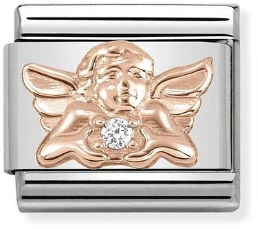 Nomination Rose Gold Angel of Family Charm  - Click to view larger image