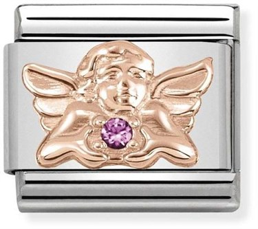Nomination Rose Gold Angel of Friendship Charm  - Click to view larger image