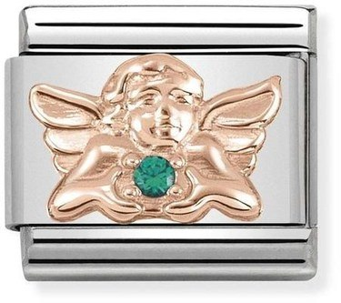 Nomination Rose Gold Angel of Good Luck Charm  - Click to view larger image