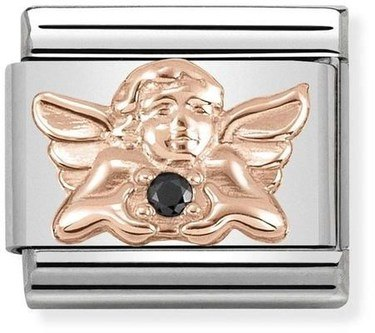 Nomination Rose Gold Guardian Angel Charm  - Click to view larger image
