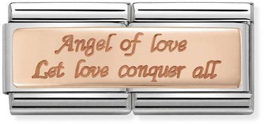Nomination Rose Gold Double Angel of Love Charm  - Click to view larger image