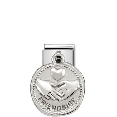 Nomination Silver shine Friendship Charm  - Click to view larger image