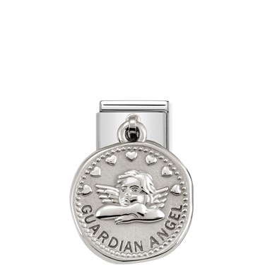 Nomination Silver shine Guardian Angel Charm  - Click to view larger image