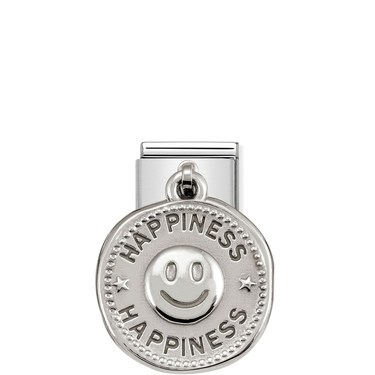 Nomination Silver shine Happiness Charm  - Click to view larger image
