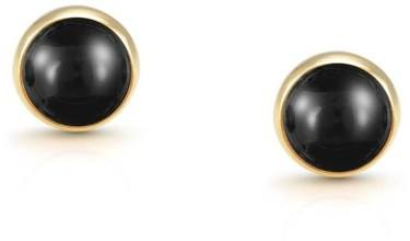 Nomination Black Agate Gold Earrings  - Click to view larger image