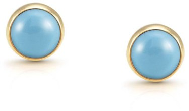 Nomination Turquoise & Gold Earrings  - Click to view larger image