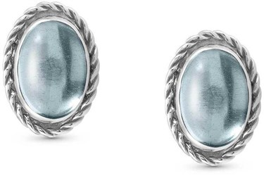 Nomination Blue Topaz Silver Earrings  - Click to view larger image
