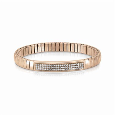 Nomination Swarovski Crystal Rose Gold Extension Bracelet  - Click to view larger image
