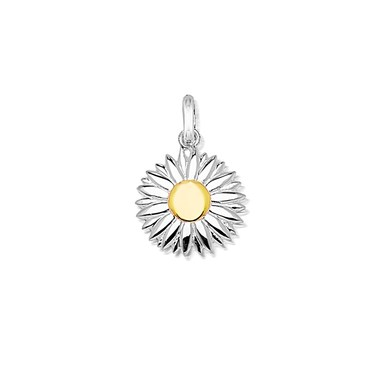 Storie Gold + Silver Daisy Pendant  - Click to view larger image