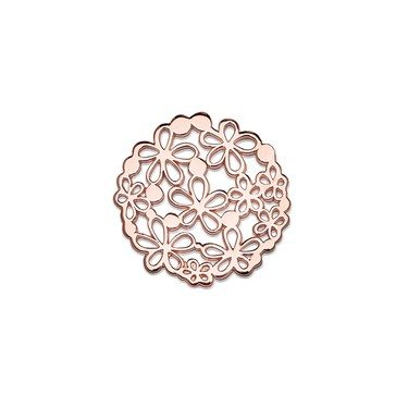 Storie Large Rose Gold Flower Disc  - Click to view larger image