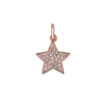 Storie Rose Gold Pave Star Pendant  - Click to view larger image