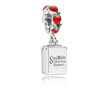 Pandora Disney Snow White & Seven Dwarfs Book Pendant Charm  - Click to view larger image