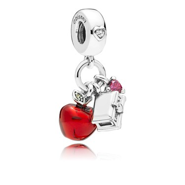 Pandora Disney Snow Whites Apple & Heart Pendant Charm  - Click to view larger image