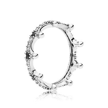 Pandora Silver Enchanted Crown Ring  - Click to view larger image