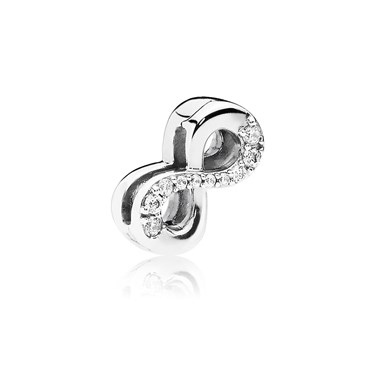 Pandora Silver Reflexions Sparkling Infinity Charm  - Click to view larger image