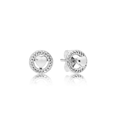 PANDORA Forever Hearts Stud Earrings  - Click to view larger image