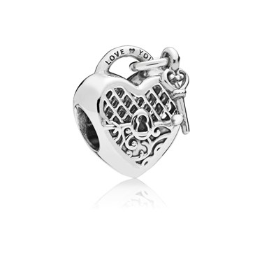 Pandora Silver Love You Lock Charm  - Click to view larger image