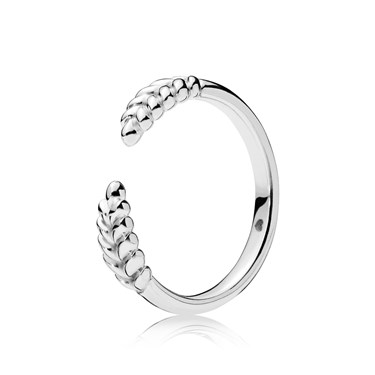 Pandora Silver Open Grains Ring  - Click to view larger image