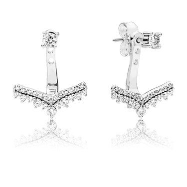 Pandora Princess Wish Stud Earrings  - Click to view larger image
