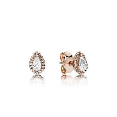 Pandora Rose Radiant Teardrops Stud Earrings  - Click to view larger image