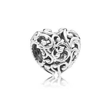 Pandora Regal Heart Charm  - Click to view larger image