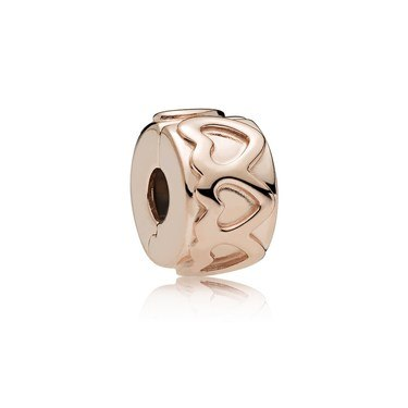 PANDORA Rose Row of Hearts Clip  - Click to view larger image