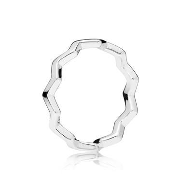 Pandora Silver Timeless Zig Zag Ring  - Click to view larger image