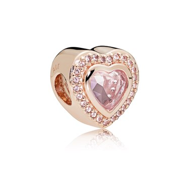 PANDORA Rose Sparkling Love Charm  - Click to view larger image