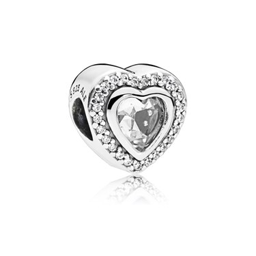 PANDORA Sparkling Love Charm  - Click to view larger image
